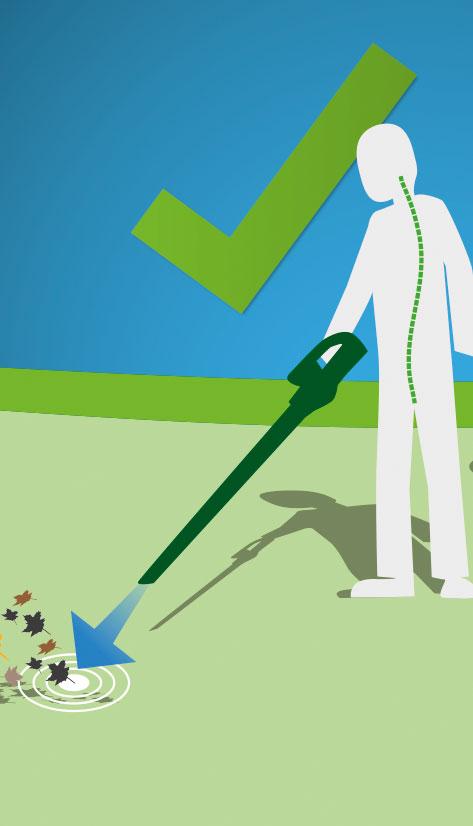 Icongrafie WOLF-Garten Ergonomische Bedienung