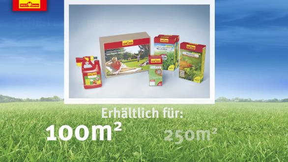 Produktvideoanimation Rasenpflege-Pakete WOLF-Garten
