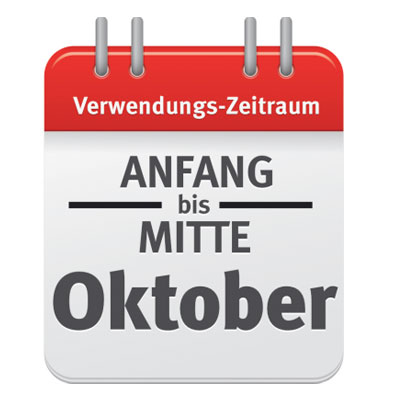Kalenderblatt für Produktbeschreibung Rasendünger