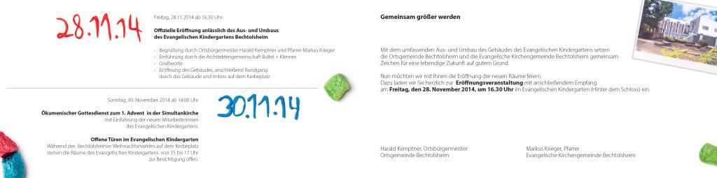 Innenseite Einladung Kindergarten Rheinhessen