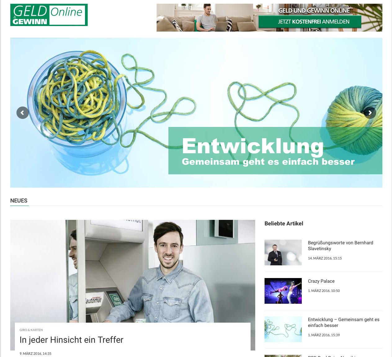 Geld und Gewinn Online – Das Kundenmagazin der PSD Bank Karlsruhe-Neustadt eG